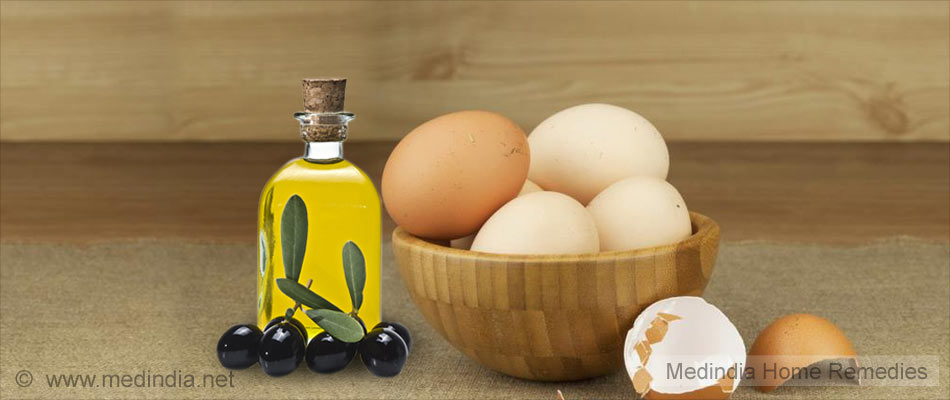 Apply Egg and Olive Oil to Hair