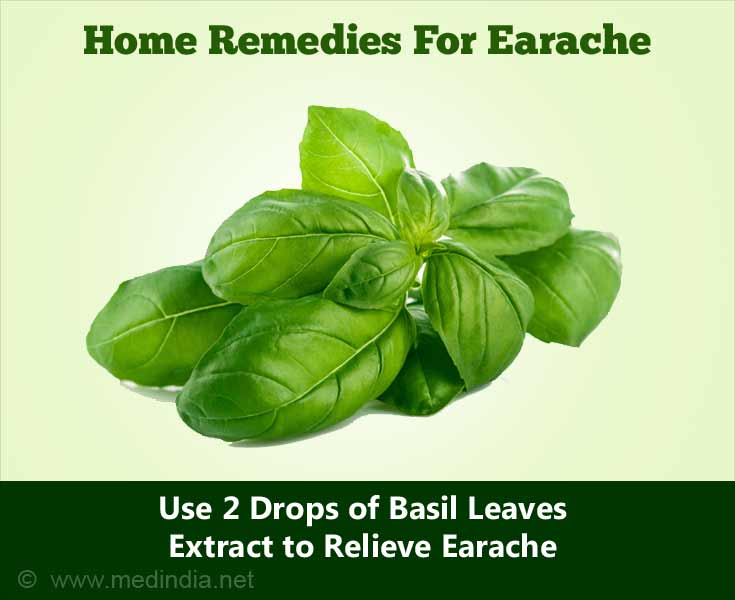 Home Remedies for Earache: Basil Leaves