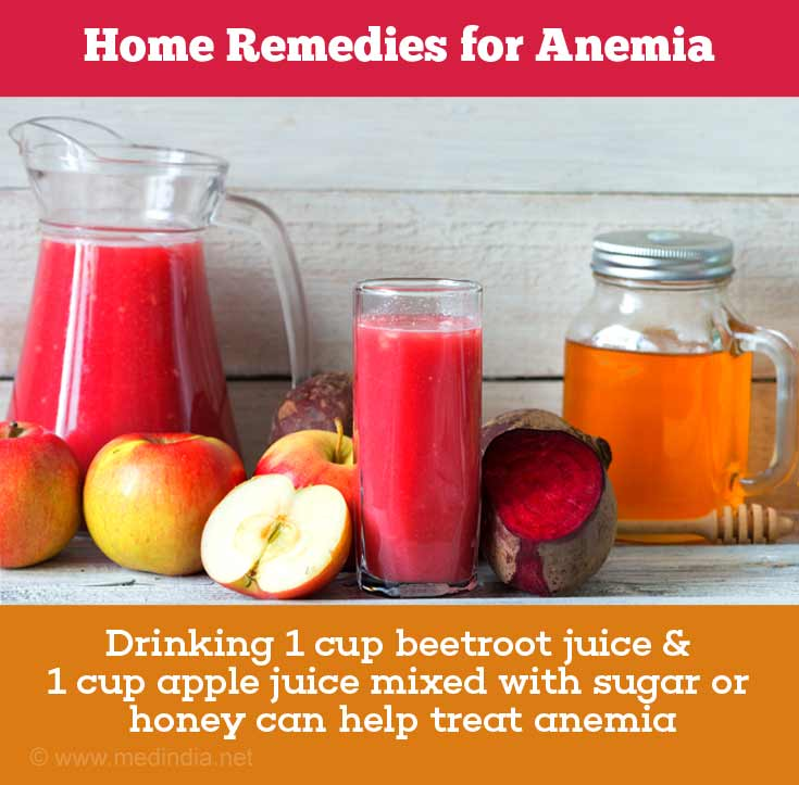 Beetroot Juice, Apple Juice Treat Anemia