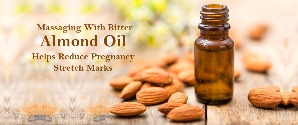 Massaging With Bitter Almond Oil Helps Reduce Pregnancy Stretch Marks