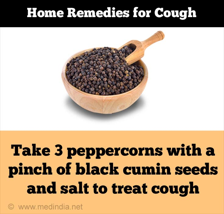 Peppercorns Treat Cough