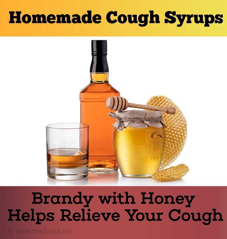 Brandy with Honey Relieves Your Cough