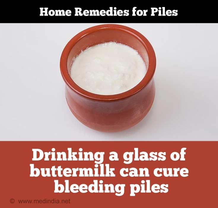 Buttermilk for Piles / Hemorrhoids