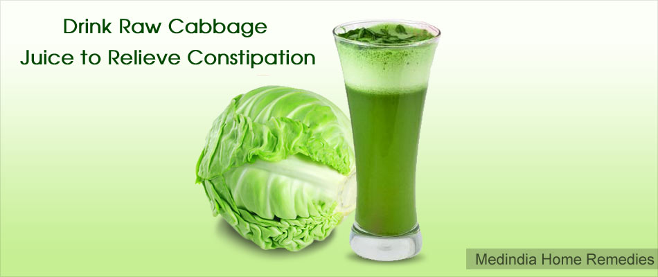 Home Remedies for Constipation in Adolescents and Adults: Cabbage Juice
