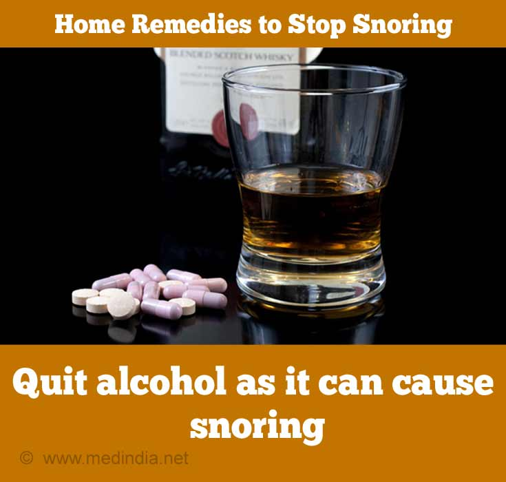 Quit Alcohol as it can Cause Snoring