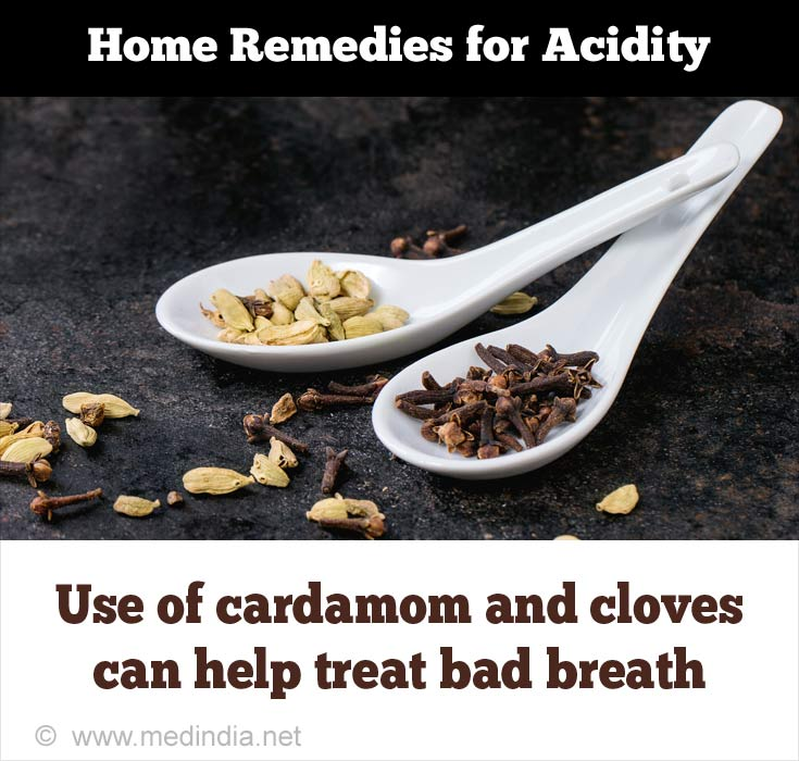 Home Remedies for Acidity: Clove and Cardamom
