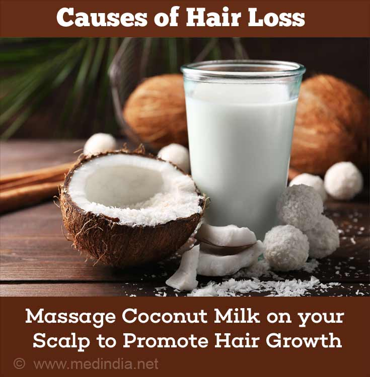 Home Remedies for Hair Loss: Coconut Milk