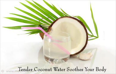 Coconut Water Reduces Body Heat