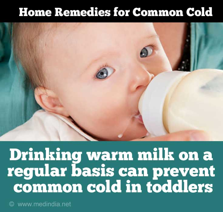 Home Remedies for Cold in Toddlers: Warm Milk