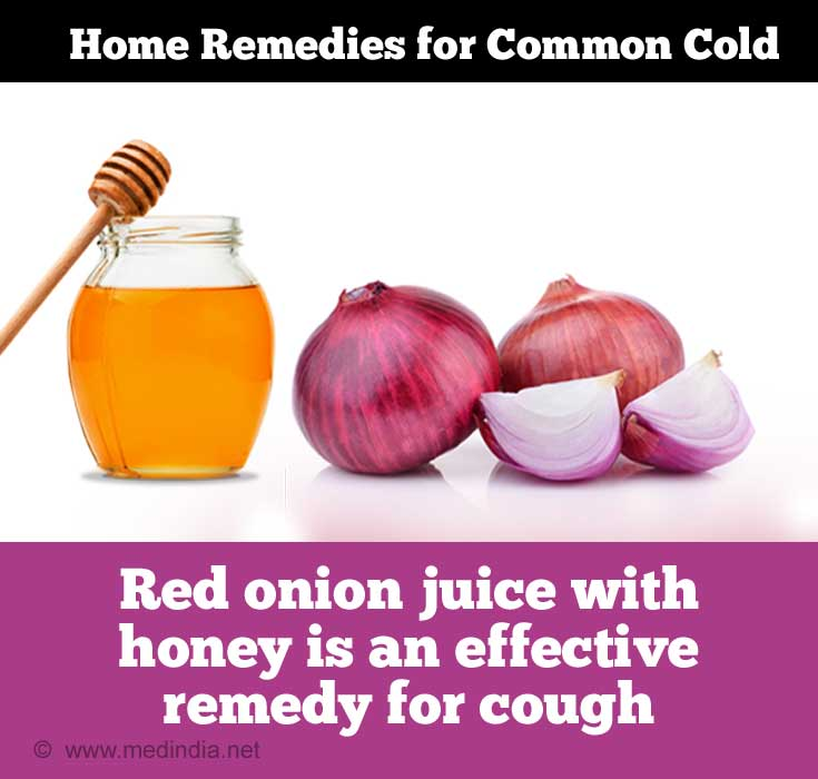 Tips for Common Cold: Red Onion and Honey