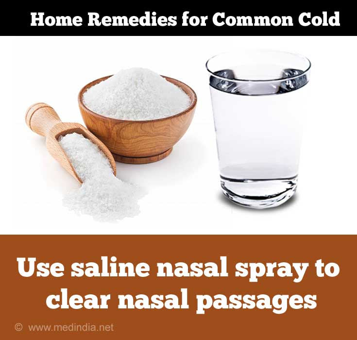 Home remedies for Cold in Infants: Saline Drops