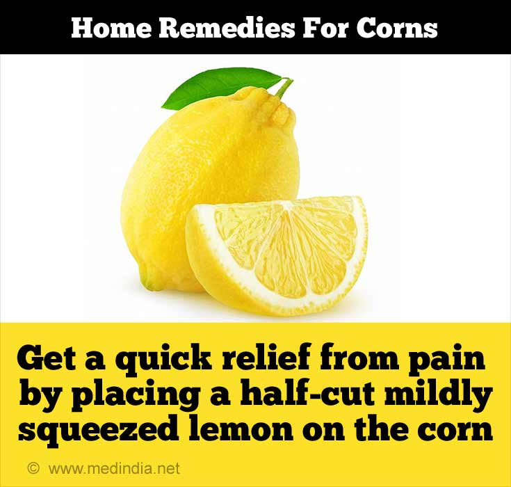 Lemon Gives Relief From Corn Pain