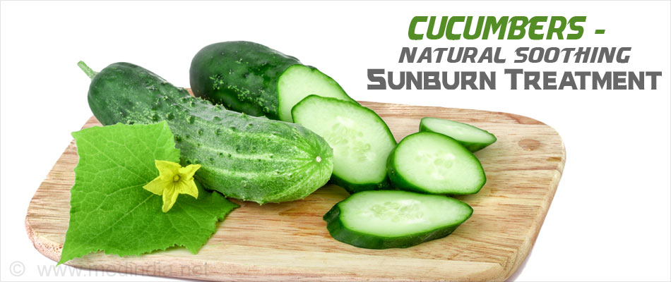 Cucumber to Beat Summer Tan Naturally
