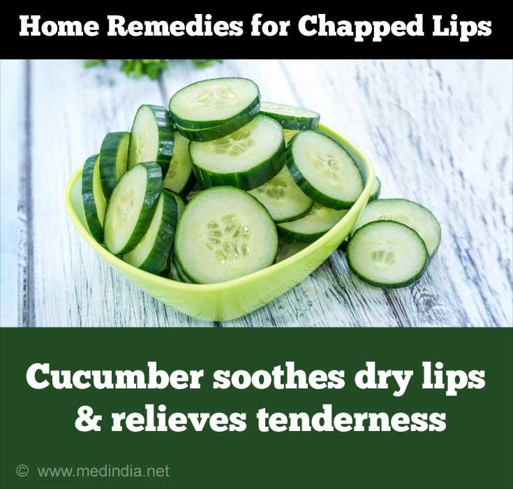 Cucumber Treats Chapped Lips