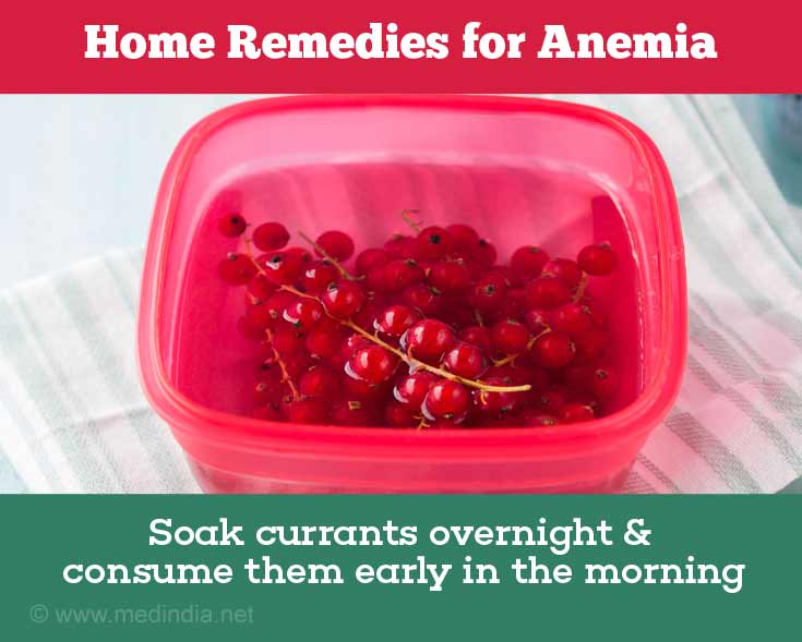 Currants Help Treat Anemia
