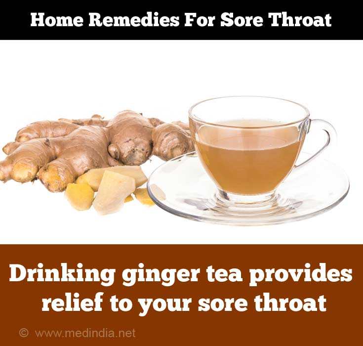 Home Remedies for Sore Throat: Ginger Tea