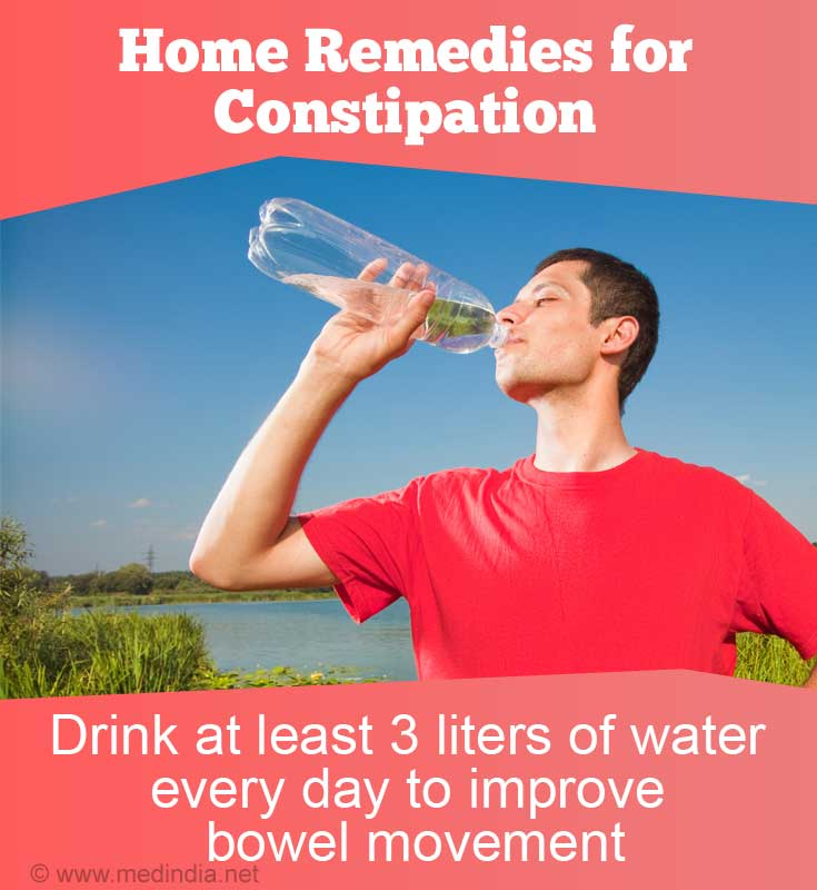 Home Remedies for Constipation in Adolescents and Adults: Drink Water