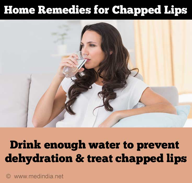 Drink Water to Treat Chapped Lips
