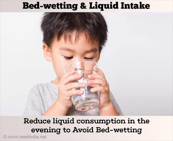 Reduce Liquid Consumption in the Evening to Avoid Bedwetting