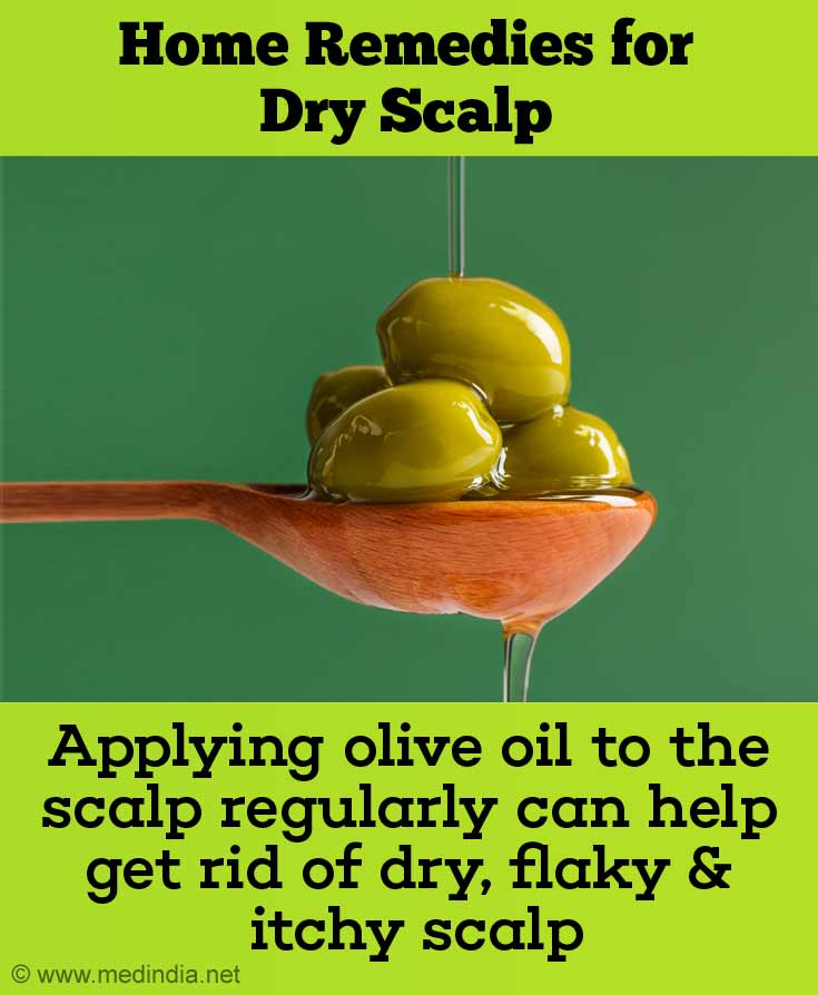 Home Remedies for Dry Scalp - Olive Oil