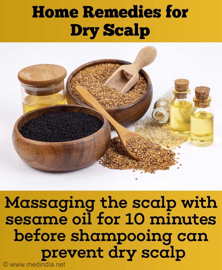Sesame Oil Massage for Dry Scalp