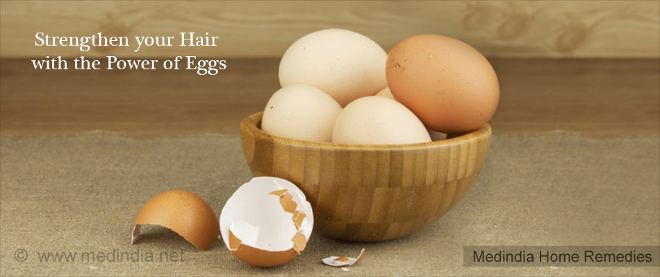 Home Remedies for Hair Loss: Eggs