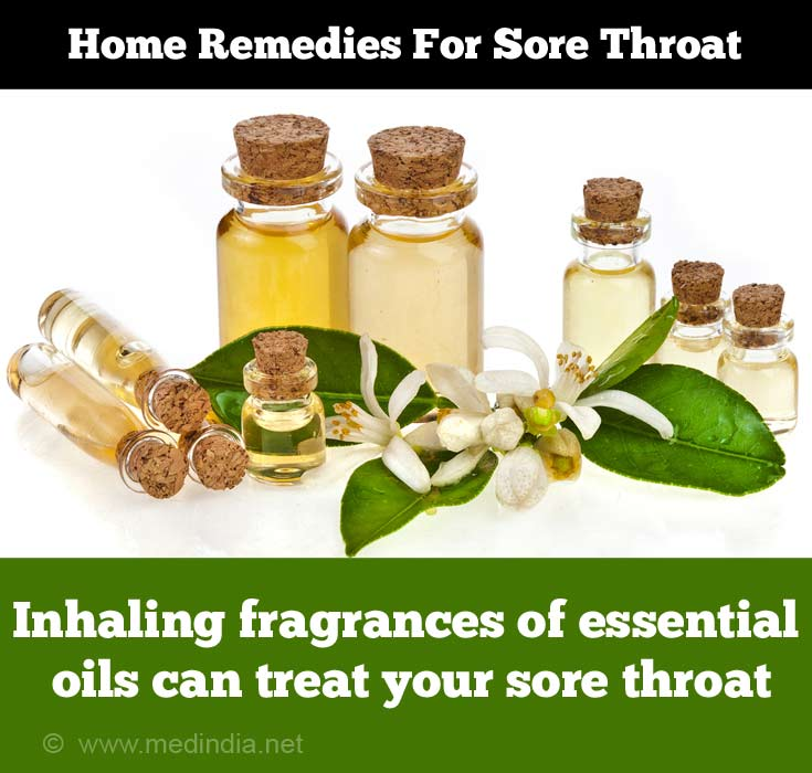 Inhaling Fragrances of essential oils can Treat your Sore Throat