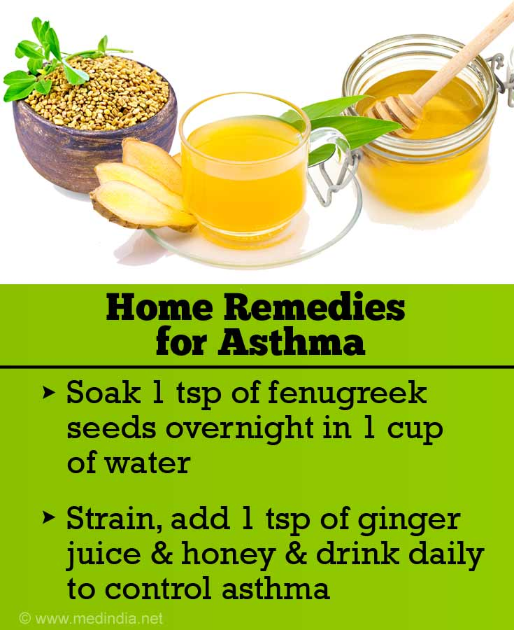 Fenugreek, Ginger Juice and Honey for Asthma