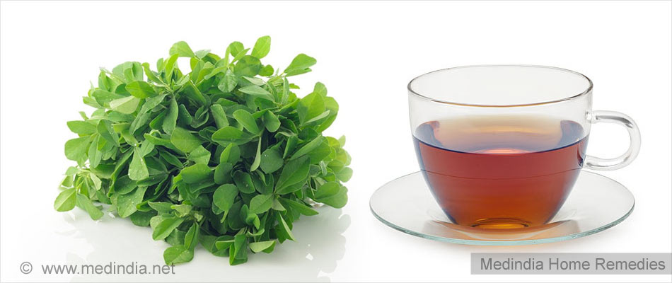 fenugreek leaves tea