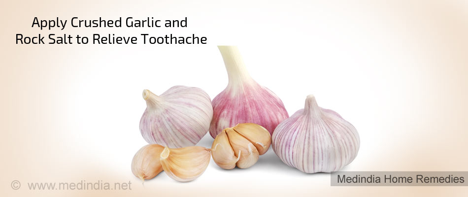Home Remedies for Toothache: Garlic