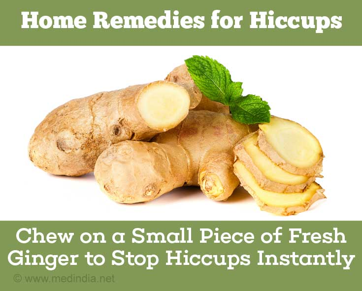 Home Remedies for Hiccups: Ginger