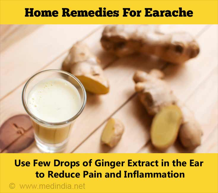 Home Remedies for Earache: Ginger Juice