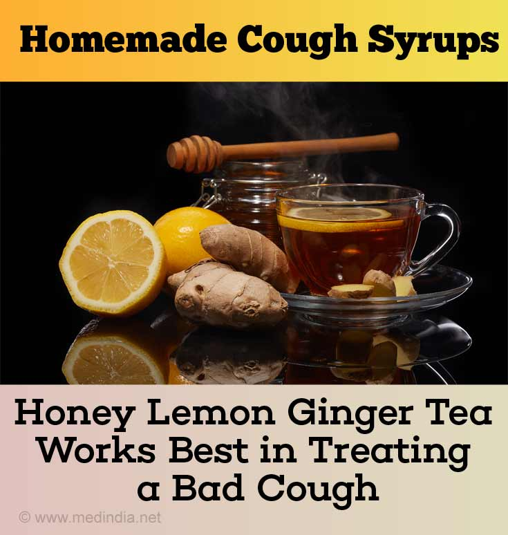 Honey Lemon Ginger Tea Treats a Bad Cough