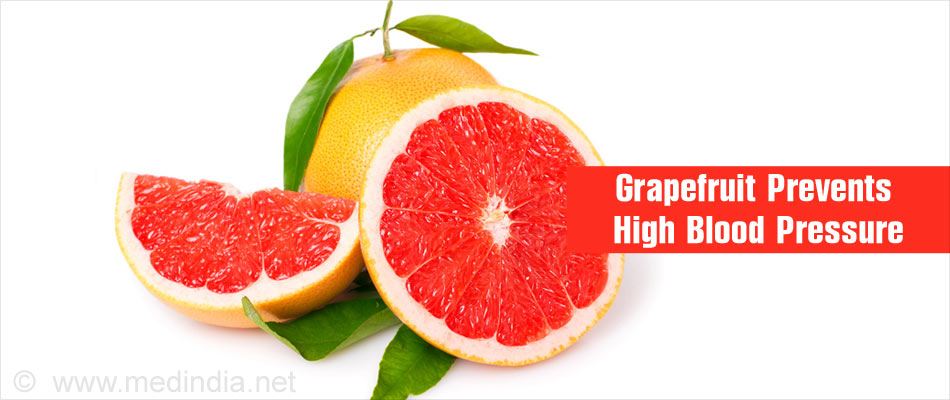 Grapefruit Helps Prevent High Blood Pressure