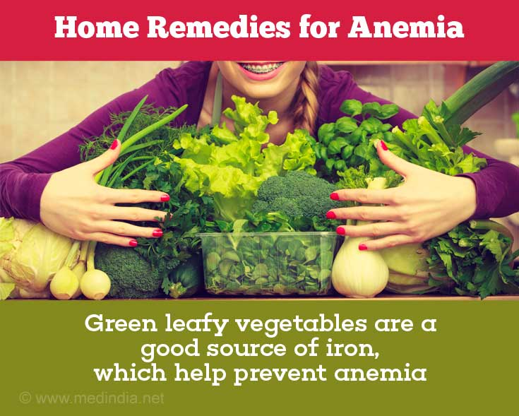 Green Leafy Vegetables Prevent Anemia