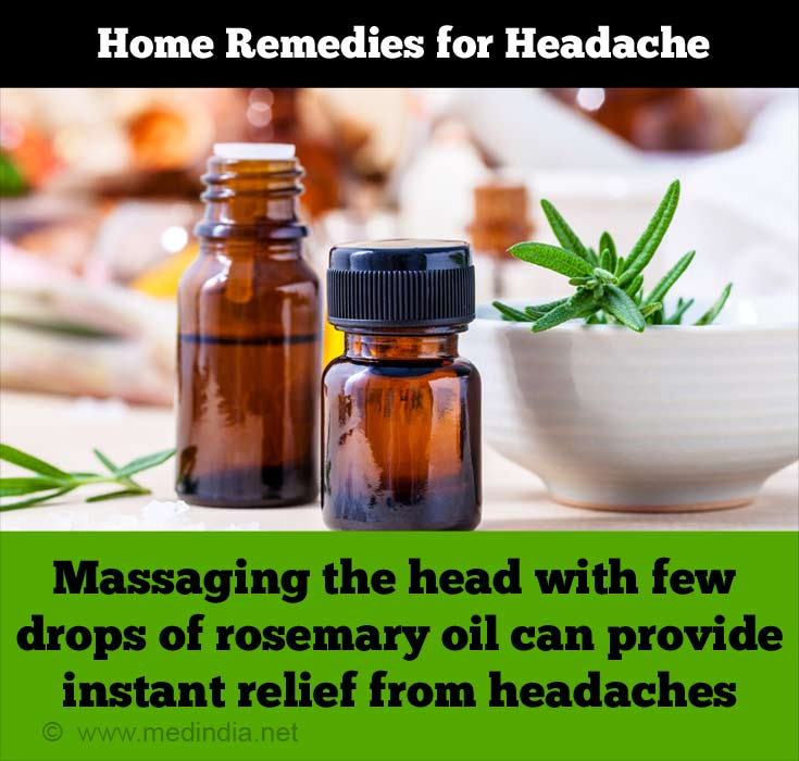 Home Remedies for Headache: Head Massage with Rosemary Oil