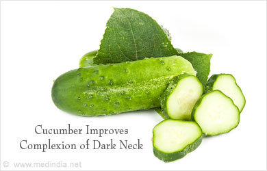 Cucumber – Remedy for  Dark Neck