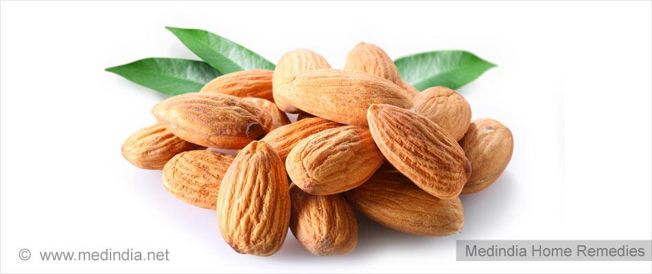 Almonds are Good for Dark Neck
