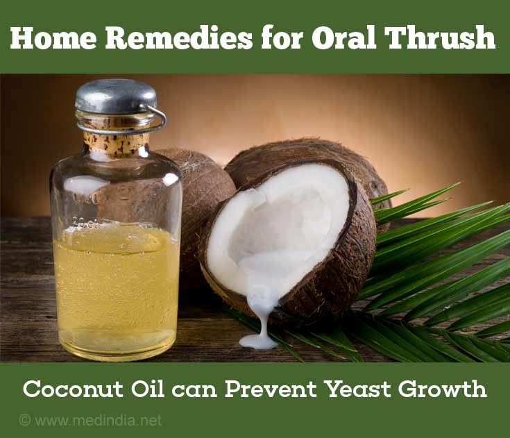 Coconut Oil is Good for Oral Thrush