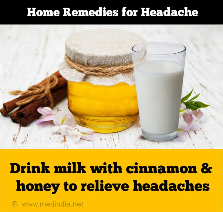 Milk, Cinnamon and Honey can Cure Headaches