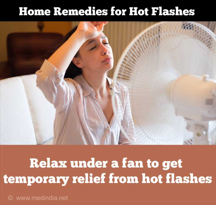 Sit Under a Fan and Relax to Relieve Hot Flashes