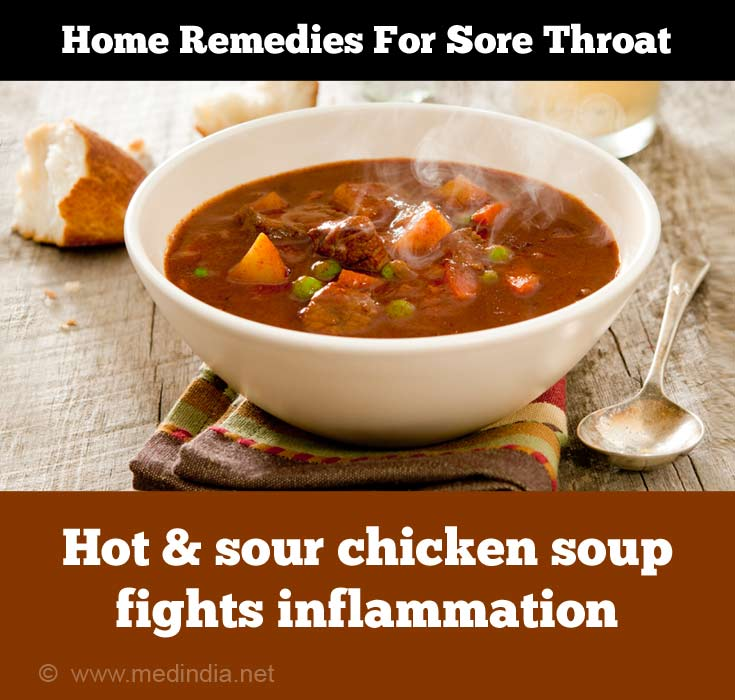 Home Remedies for Sore Throat: Hot and Sour Chicken Soup