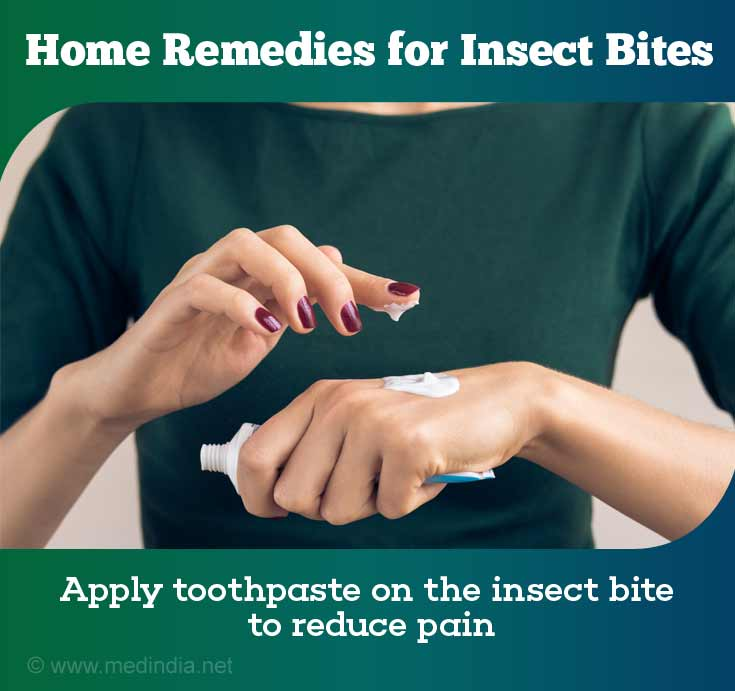 Home Remedies for Insect Bites: Toothpaste