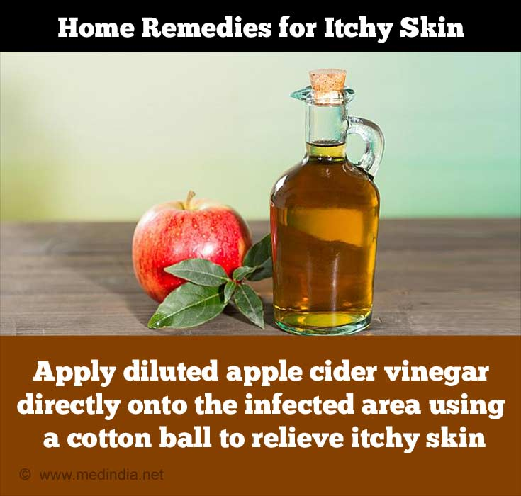 Apple Cider Vinegar can Treat Itchy Skin