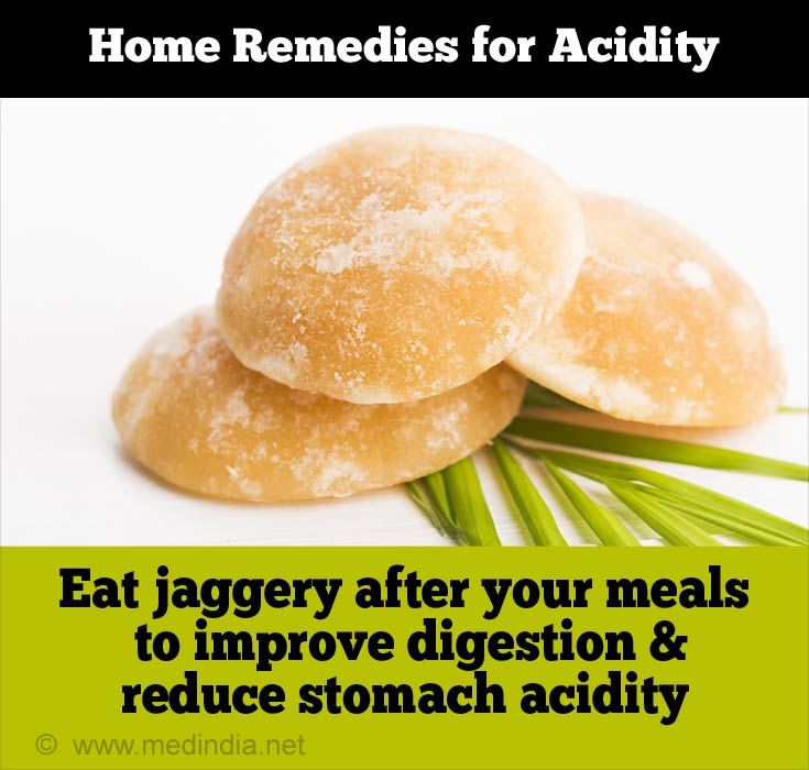 Home Remedies for Acidity: Jaggery
