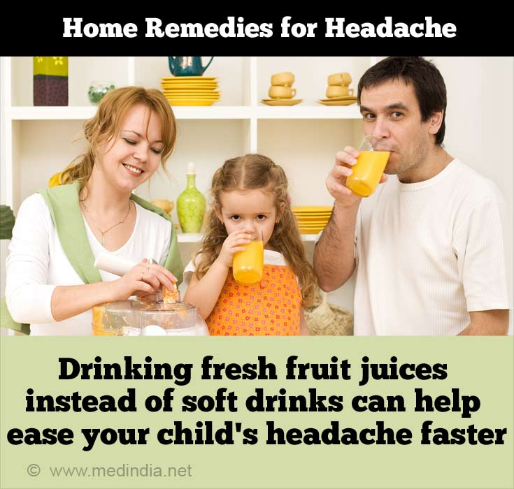 Fresh Fruit Juices can Help Relieve Headaches in Kids