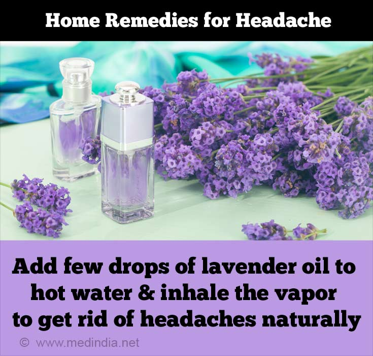 Home Remedies for Headache: Lavender Oil