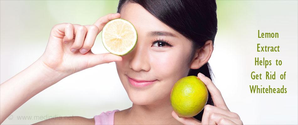 Lemon Juice Extract Helps Rid of Whiteheads