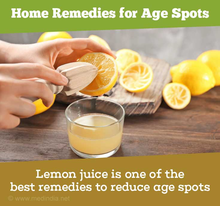 Lemon Juice Treats Age spots