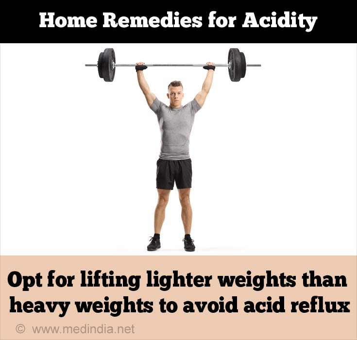 Causes of Acidity: Lifting Weight